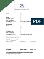 Formulir Permintaan Tiket