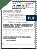 week 13 newsletter