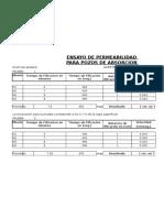 Cálculo de Permeabilidad