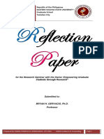 Reflection Paper Re-Seminar in Writing Thesis Proposal