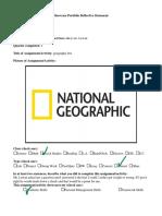 portfolio reflection social studies