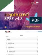 User Guide SPSE 4.3 Tender Cepat Pokja Pemilihan 15 November 2018