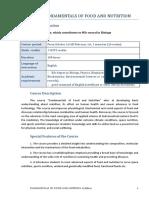 Syllabus Fundamentals of Food and Nutrition 22 Feb 2017