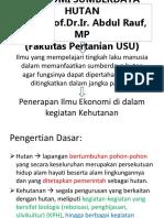 7.Ekonomi Sumberdaya Hutan