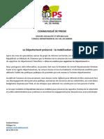 Communiqué Groupe Socialiste Et Républicain 06 12 18