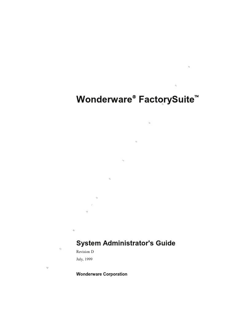 Wonderware Factorysuite System Administrators Guide Automax Limit Switch Xcl Wiring Diagram Microsoft Sql Server Web