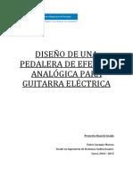 Diseño Pedal Analogico de Guitarra