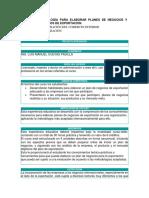 03 Metodologia Para Elaborar Planes de Negocios y Proyectos de Exportacion