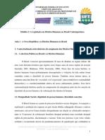 Legislação - A Nova República e Os Direitos Humanos No Brasil