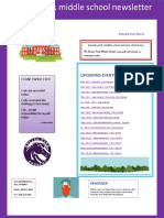 boulan park middle school newsletter