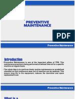Ppt on Preventive Maintenance