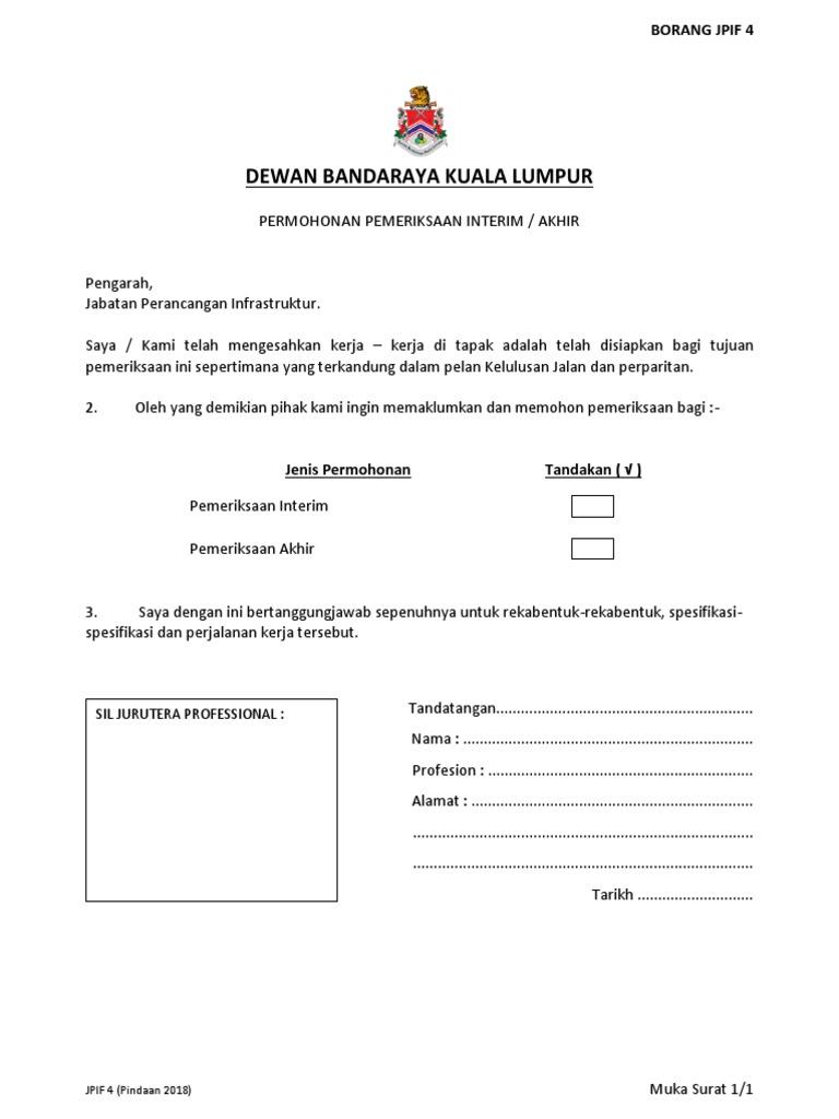 Dewan Bandaraya Kuala Lumpur Sil Jurutera Professional