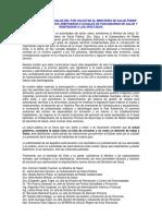 Declaración exautoridades de Salud por despidos