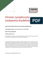 Chronic Lymphocytic Leukaemia London Cancer Guidelines