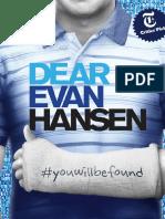 Dear Evan Hansen Piano Vocal Score