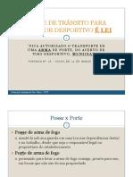 PORTE DE TRÂNSITO PARA ATIRADOR DESPORTIVO É LEI-4