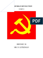 The Russian Revolution - Unit Outline