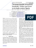 Measuring the Economic Benefits of Forests in Relation to Households' Welfare and Forest Dependence in South-western Nigeria