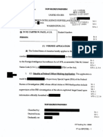 Carter Page FISA Application