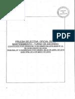 Cuestionario Oficial 1ª Mantenimiento Ascenso