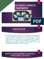 Principales Fuentes y Formas de Financiamiento