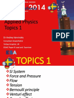 Appplied physics anesthesia