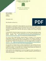 La carta del Parlamento inglés donde pide que no se le entregue el oro a Maduro (DOCUMENTO)