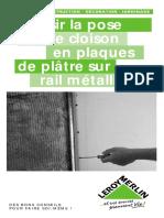 Réussir la pose d une cloison en plaques de plâtre sur rail métallique.pdf