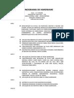 Cronograma de Hardware Matriz.docx