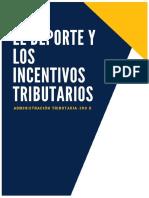 Monografía Los Deportes y Los Incentivos Tributarios