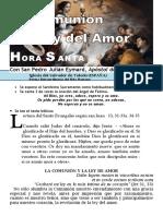La Comunión y La Ley Del Amor (56) Hora Santa Con San Pedro Julián Eymard.