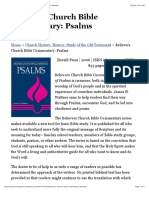 Believers Church Bible Commentary Review Psalms