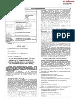 Ley que modifica la Ley 28515 Ley que promueve la transparencia de la información del Seguro Obligatorio de Accidentes de Tránsito (SOAT)