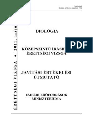 Biológia érettségi követelmények