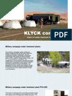 KLYCK Company Presentation of Water Treatment Technologies