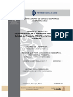Informe de Residencias Profesionales APQP 2018