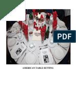 American Table Setting