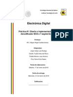 Práctica 1 - Decodificador BDC a 7 Segmentos