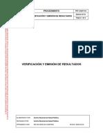 PRT-CNSP-010 Ed01 Verificación y Emisión de Resultados