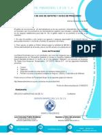 MACHOTE Reglamento Uso de Gafetes Promotoria
