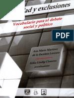 Alteridad y Exclusiones. Vocabulario para el debate social y político.