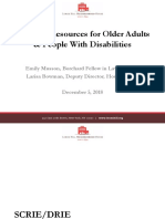 Housing Issues for Older Adults & People with Disabilities PowerPoint