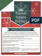 2018 Pioneer Square Holidays Passport