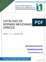 Catálogo de normas ONNCCE