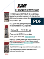 Honda k20 Mugen Dr Spec Eng Info1