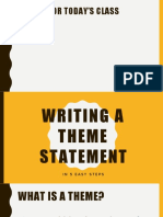 5 steps to theme statement