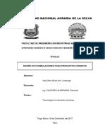 Informe Nº 2 de Tecnología en Industrias Cárnicas - Programa de Producción