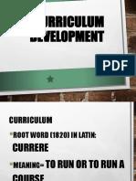 Curriculum Definition, Planning and Development