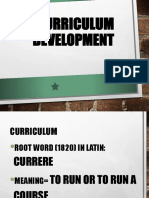 Curriculum Definition, Planning and Development