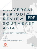 the Universal Periodic Review of Southeast Asia Civil Society Perspectives